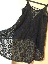 NWOT Black Lace Festival Tank Top Coverup Extra Small Medium