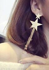 Earrings Boho Festival Party Boutique Uk Gold Large Tassel Star Luxury Fashion