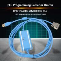 1X PLC Programming Cable & Software CD for Omron PM1/2A/CQM1/C200HE/HX/HG/HS PLC