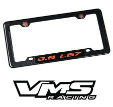 VMS 1 CARBON FIBER LOOK LICENSE PLATE FRAME FOR CHEVY 3.8 L67 RDBK