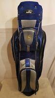EDLE KENTON Golftasche EDEL Leicht Golfbag  Cartbag Blau Silber Golf Stand Bag