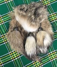 Mens Scottish Kilt Sporran en fourrure Renard/Fox fourrure Head Kilt sporrans Cuir/Sporrans