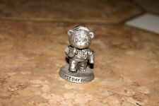 Avon Collectable Fine Pewter Bears First Day Back 1983