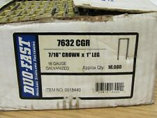 Duo-Fast Staples 7632 CGR 16 Gauge Galvanized  7/16 Crown 1 Inch Long