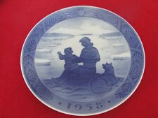 1958 ROYAL COPENHAGEN CHRISTMAS  OLD PLATE GREENLAND ESKIMO