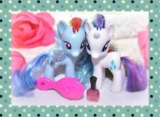 ❤️My Little Pony Brushable RAINBOW POWER Tinsel Hair Rainbow Dash Rarity Lot❤️