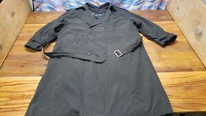 Men's Pierre Cardin | Green Long Dress Trench Coat | Belted Jacket Size 46R