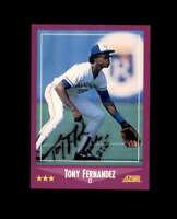 Tony Fernandez Hand Signed 1988 Score Toronto Blue Jays Autograph