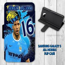 KUN AGUERO MAN CITY LEGENDGALAXY S Flip Wallet Cover Case