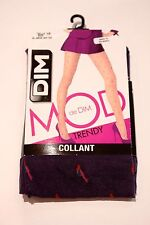 DIM MOD COLLANTS TIGHTS PURPLE PRINT SIZE 1/2 FREE SHIPPING