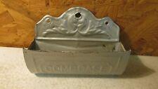 Antique Tin Comb Case Wallpocket