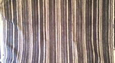 CISCO TEXTILES Kayan Carbon Grey Burmese Stripe Cotton Linen 4 yds+ New