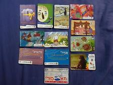 LOT OF PHONE CARDS 12 ISRAEL TELECARD BEZEQ 20 50  UNITS Collection