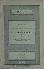 SOTHEBY'S ITALIAN MAJOLICA HISPANO-MORESQUE WARE Damiron Coll Catalog 1938