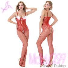 Bodystocking Catsuit Rossa Natale Capodanno Intimo donna sexy lingerie tutina