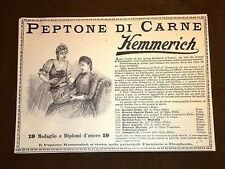 Pubblicità d'Epoca per collezionisti Peptone di carne Kemmerich - Mamme -