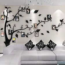 Wall Stickers Decor 3D Photo Frame Decal Family Tree Easy to Install