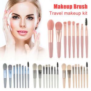 8pcs/set Travel Mini Make Up Brushes Set  Eyeshadow Eyeliner Eyebrow Brush Lip