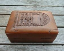 Aesthetic Movement Carved Walnut Box w/ Hinged Lid – 'Old Carved Arab Door'