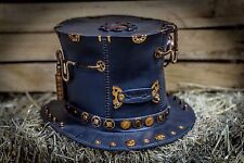 Unique Victorian Handmade Steampunk HAT || Metal & Leather || Gothic || #6