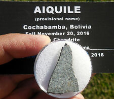 """1st on eBay!  3.25g  """"Aiquile"""" Meteorite slice from Nov 20, 2016 fall in Bolivia"""