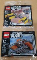 LEGO STAR WARS NEW 20TH ANNIVERSARY Snowspeeder 30384 Podracer 30461