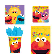 Sesame Street 1st Birthday 88 Pc PARTY PACK Genuine licensed