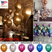 "10/20/50/100Pcs 12"" Metallic Latex Balloons Wedding Birthday Party Celebration"