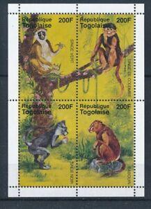 [343134] Togo 1996 monkey good very fine MNH sheet