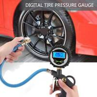 Professional Digital LCD Tyre Tire Air Pump Pressure Gauge Tester 220 Psi Car