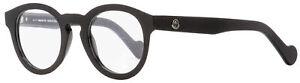 Moncler Oval Eyeglasses ML5006 001 Shiny Black 48mm 5006