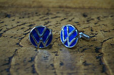 VW Volkswagen Chrome Cufflinks Great Quality New Free Velvet Pouch