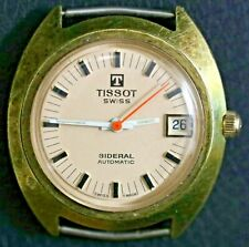 As-Is For Parts Tissot Swiss Sideral Automatic Wrist Watch w/ Orange Second Hand