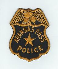 VINTAGE ARANSAS PASS, TEXAS POLICE(CHEESE CLOTH BACK) patch