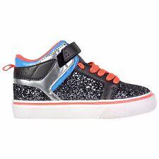 Girls 12 Black Glitter Chunky OP High Hi Top Tennis Skate Shoes Sneaker