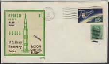 # Space Raumfahrt Apollo 8 Bergung Beck Cachet HBS USS Yorktown 27.12.68