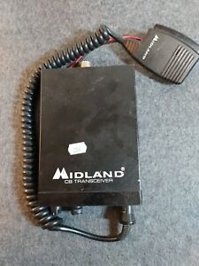 Vintage Midland 40-channel CB Radio Receiver Model 77-099 with mic.