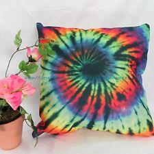 US SELLER -throw pillow case cove tie dye rainbow swirl cushion cover pillowcase