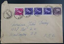 Belgium 1946 Multistamp Cover Feluy - Arquennes To Washington DC, 17F50 Rate