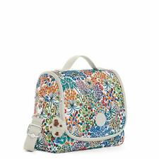 Kipling KICHIROU Insulated Lunch Bag  Little Flower Blue- Authentic NWT