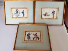 3 Antike Chinesische Reispapierbilder Bilder Kunsthandlung Kehr Rarität rar