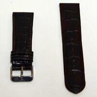Neu Elysee Uhrenband Uhrenarmband 195mm lang Lederband Braun 24mm E659