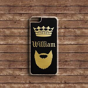 PERSONALISED INITIALS NAME KING STYLE HARD PHONE CASE COVER FOR IPHONE APPLE P10