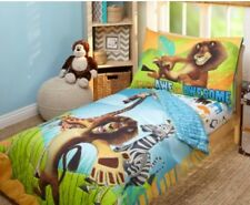 Disney Toddler Bedding Set Madagascar 4 Piece Quilt Sheets Kids Bedroom Lion.