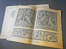 Livre ancien pour point de croix, broderie, old french embroidery
