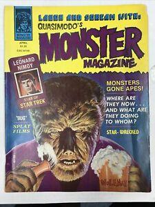Quasimodo's Monster Magazine # 7 Vintage Horror Like Famous Leonard Nimoy