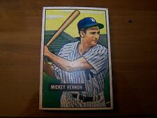 Mickey Vernon #65 1951 Bowman NM 7