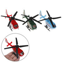 2pcs Pull Back Helicopter Toy Small Rotating Propeller Airplane Kids Toy Gift JR