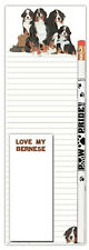 Bernese Mountain Dog Notepads To Do List Pad Pencil Gift Set