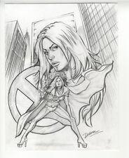 Cris Delara White Queen Original Comic Book Pin Up Drawing